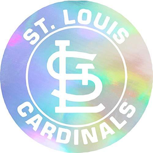 NBFU DECALS MLB ST. Louis Cardinals Logo 4 (Hologram) (Set of 2) Premium Waterproof Vinyl Decal Stickers for Laptop Phone Accessory Helmet CAR Window Bumper Mug Tuber Cup Door Wall Decoration