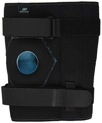 Hinged Knee Wrap - DonJoy Advantage DA161KB02-BLK-L/XL Stabilizing Double Hinged Knee Wrap Brace for Sprains, Strains, Media Lateral Instability, Arthritis, Patella Buttress
