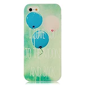 6 4.7 Case, iPhone 5&6 4.7 Case - Sunshine Case Fashion Style Colorful Painted Balloon Love You Pattern TPU Soft Cover Case for iPhone 5&6 4.7(Balloon)