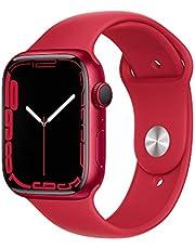 AppleWatch Series7 (GPS) • 45‐mm kast van (PRODUCT)RED aluminium • (PRODUCT)RED sportbandje- Standaardmaat