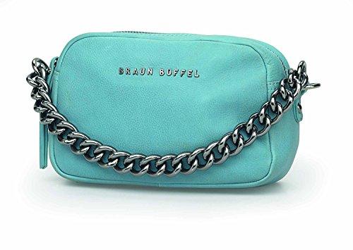 Braun Büffel Damen Handtasche mit Kettenriemen Leder 26280-174-042 babyblue-