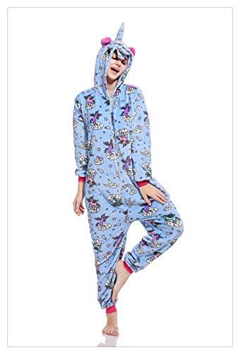 Women Pajamas Halloween Adult Animal Flannel Sleepwear Pajamas