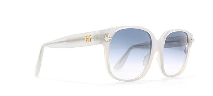 82d408e7ad46 Emmanuelle Khanh 8080 CL I9MR Clear Authentic Women Vintage Sunglasses at  Amazon Women s Clothing store