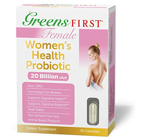 Greens First Female Women's Health Probiotic, 30 Capsules