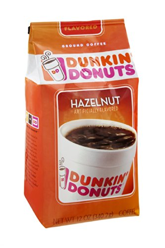 Dunkin' Donuts Hazelnut Ground Coffee 12 OZ (Pack of 12) by Dunkin' Donuts