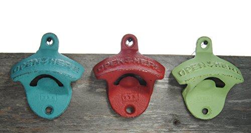 Hand painted vintage wall mountable bottle openers