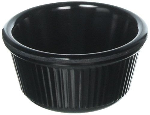 - Winco RFM-3K Fluted Ramekins, 3-Ounce, Black, 12-Pieces