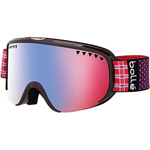 Bolle Scarlett Modulator Goggles, Shiny Pink Plaid, Vermillion Blue - Plaid Helmet