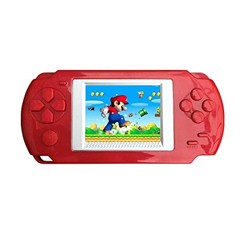 KOBWA Handheld Game Console for Children, Built in 268 Classic Old Games Portable Game Console, The 80's Arcade Video Gaming System (Red)