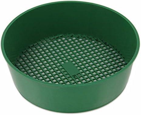 Jardín tamiz plástico, tamiz de jardín, herramienta de mano para suelo, malla verde diámetro 20 cm: Amazon.es: Jardín