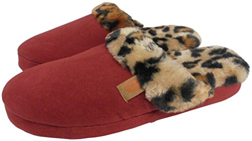 Red Acorn Slipper Fur Womens Scuff qzwfzB