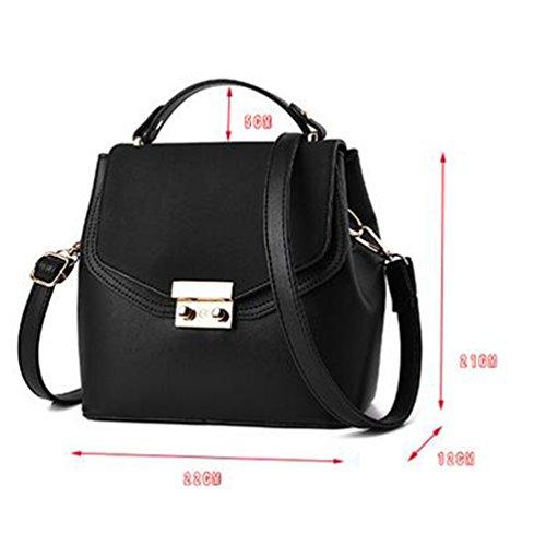 Baymate Mujer Casual Bolso de las Mujeres del Hombro del bolso Cross Body Bag Negro