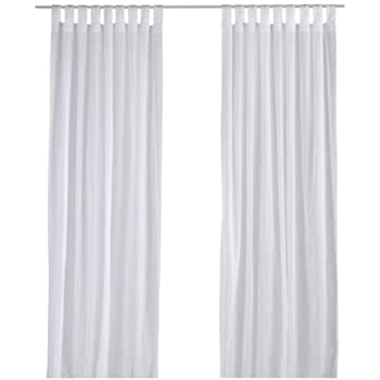 Amazon Com Ikea Matilda Sheer Curtains 1 Pair White