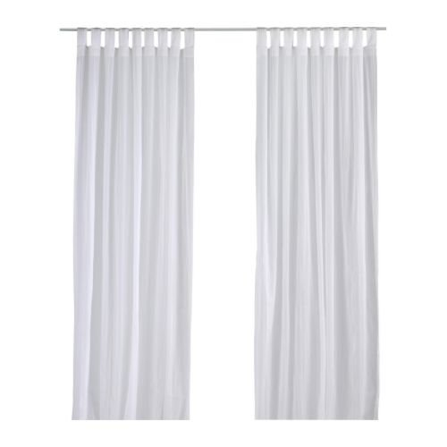 IKEA Matilda Sheer Curtains 1 Pair, White 101.119.84 (Curtains Tab Buy Top)