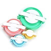 Doyeemei 4 Taille Pompom Fabricants Tisserandes de Boules Peluches Travaux d'aiguilles Outils de Laine à Tricoter DIY Kit