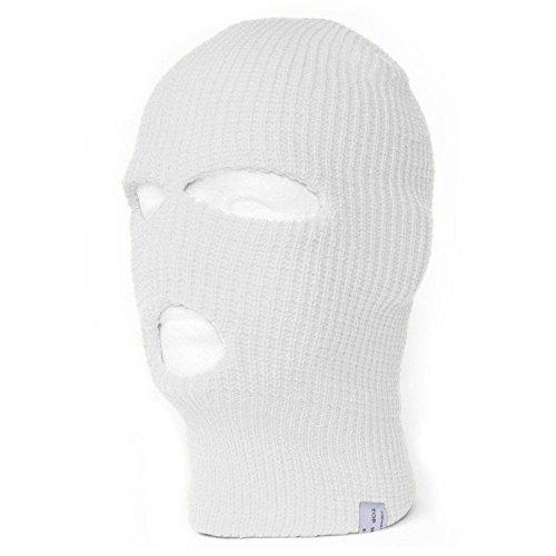 ki Face Mask Balaclava, White (Acrylic Ski Mask)