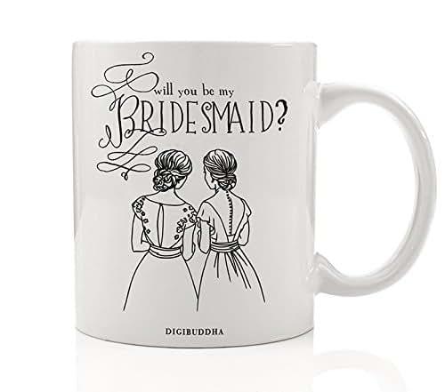 Wedding Gift For Friend Female: Amazon.com: Bridesmaid Mug, Will You Be My Bridesmaid
