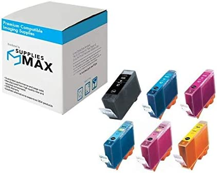 BK//C//M//Y//PC//PM BCI-3ECMP SuppliesMAX Compatible Replacement for Canon BJC-3000//6000//6500//S400//S4500 Inkjet Combo Pack