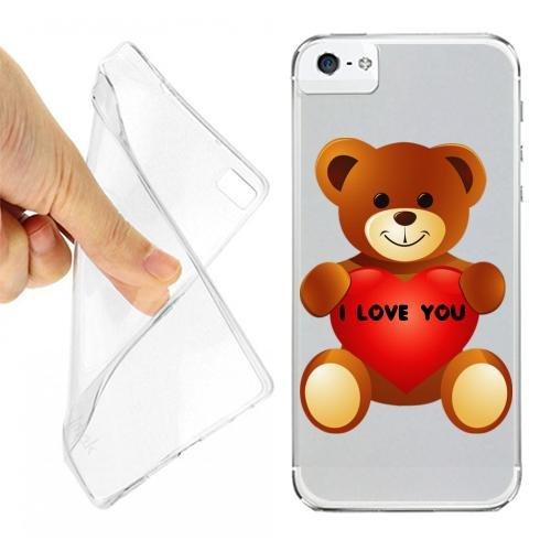 CUSTODIA COVER CASE ORSETTO LOVE PER IPHONE 5 OPACO