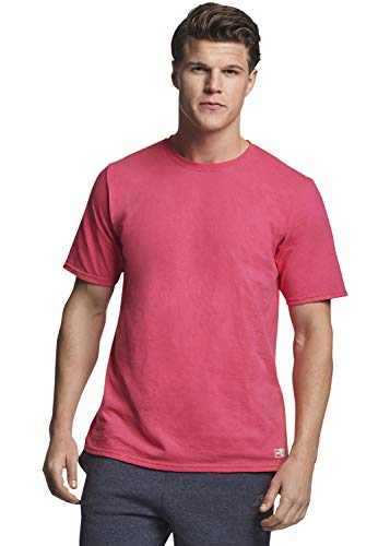 (Russell Athletic Men's Performance Cotton Short Sleeve T-Shirt, Watermelon Pink, XXL)
