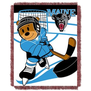 The Northwest Company Officially Licensed NCAA Maine Black Bears Fullback Jacquard Baby Throw Blanket, 36