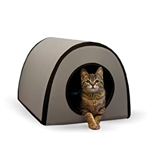 10. K&H Pet Products Mod Thermo-Kitty Shelter Outdoor Heated Cat House