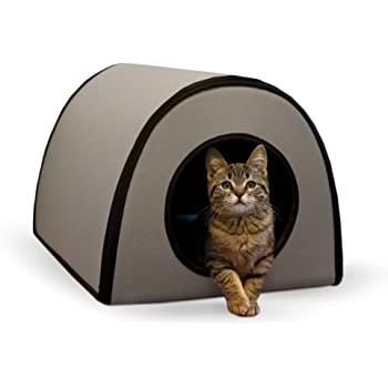 K&H Manufacturing Mod Thermo-Kitty Shelter Gray 15-Inch by 21.5-Inch by 13-Inch 25 Watts