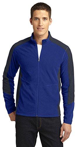- Port Authority Colorblock Microfleece Jacket, Patriot Blue/Battleship Grey, XX-Large