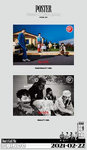 Shinee - Don't Call Me [Photobook ver.] (Vol.7) Album+Folded Poster+Extra Photocards Set (Fake Reality+Reality ver. Set)