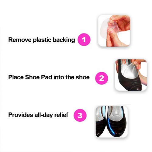 Heel Cushion Inserts; Metatarsal Pads Women; Ball Foot Cushions; Shoe Pads; High Heel Pads; Shoe Inserts Women; Pads Heels 4 Pairs 8 Pieces + Free e-Book by Happy By You (Image #3)