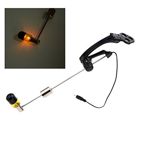 - Yellow Fishing Swinger Sounder Carp Fishing Sounder Swinger Bite Alarm Adjustable Force Illuninated Fish Bite Strike