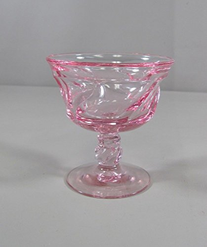 Reduced! Fostoria Crystal JAMESTOWN-PINK Champagne/Tall Sherbet (Fostoria Glass Champagne Glass)