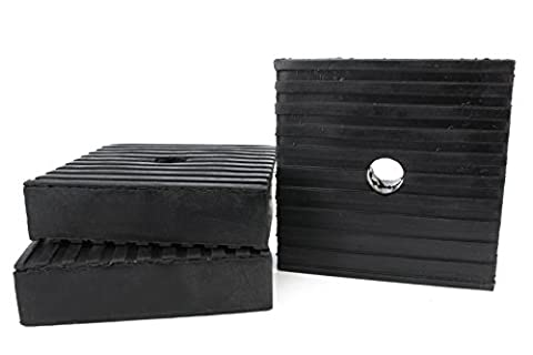 3 Pack Anti Vibration Pads For Air Compressor Or Equipment Solid Rubber 4x4x1 (Compressor Pads)