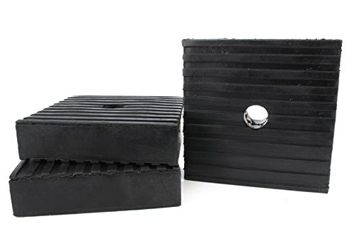 3 Pack Anti Vibration Pads For Air Compressor Or Equipment Solid Rubber 4x4x1 (Air Vibration Concrete)