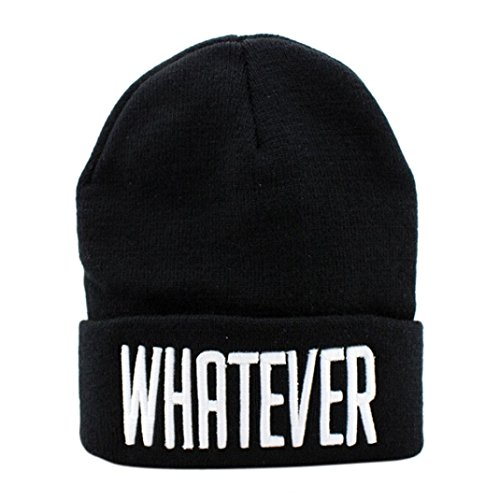 [YIWULA Winter Beanie Hat And Snapback Cap (Black)] (Hip Hop Felt Hat With Feather)