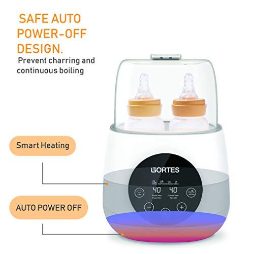 Baby Bottle Sterilizer & Thermostat 5 Intelligent Milk Formula, Temperature LCD Fast