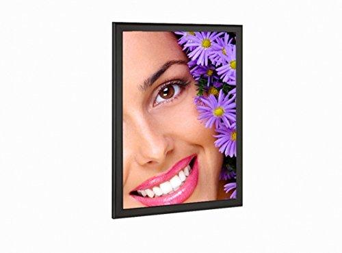 Backlit Ultra Slim LED Light Box (Black) Graphic Sign Display 18