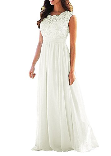 Ivory Bridesmaids Formal Gown - 4