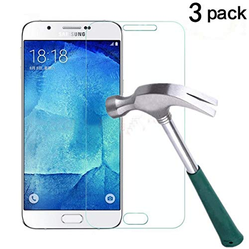TANTEK Galaxy J7 Screen Protector, [Bubble-Free][HD-Clear][Anti-Scratch][Anti-Glare][Anti-Fingerprint] Premium Tempered Glass Screen Protector for Samsung Galaxy J7(2015),-[3Pack] (Samsung Note 3 Neo Best Price)