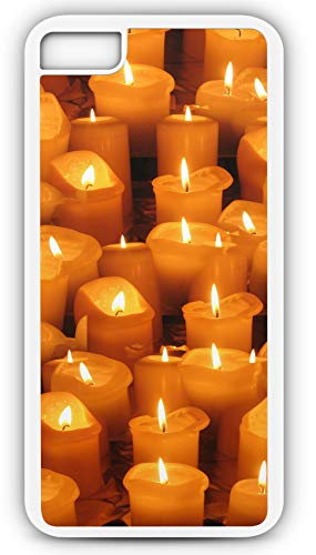 iPhone 7 Case Candle Light Candlelight Vigil Prayer Memorial Customizable by TYD Designs in White Plastic Black Rubber Tough Case