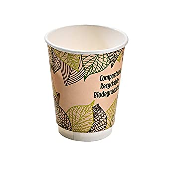 3c518a2baa2 Double Wall Compostable Coffee Cup (Case of 50), PacknWood - Recyclable Disposable  Paper