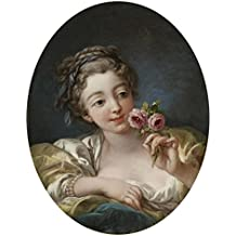 The Perfect Effect Canvas Of Oil Painting 'Francois Boucher (Workshop Of) - Girl With Roses, 1760s' ,size: 24x31 Inch / 61x79 Cm ,this Best Price Art Decorative Prints On Canvas Is Fit For Study Decoration And Home Artwork And Gifts