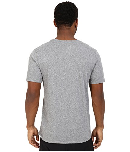 NIKE Men's Dri-FIT Cotton 2.0 Tee, Carbon Heather/Carbon Heather/White, Small by Nike (Image #3)