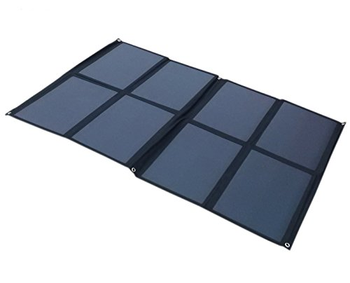 Solar Energy Cell - GGX ENERGY SUNPOWER Solar Cell Portable Solar Panel 160W Folding Solar Charging Kit for Camper Caravan Boat 12V Battery or 12V Solar System (black)