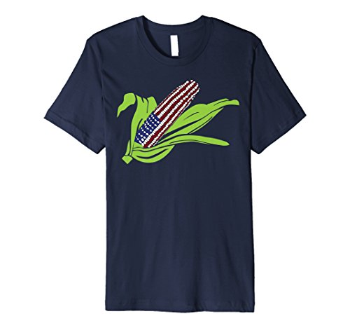 - Patriotic American Flag Corn on the Cob T-Shirt
