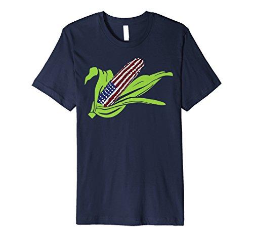 - Patriotic American Flag Corn on the Cob T-Shirt
