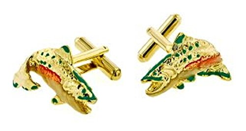 JJ Weston Hand Enameled Fish Cufflinks. Made in the USA. (Enameled Cufflinks)