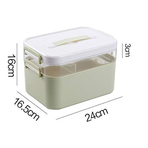 Djyyh 薬箱収納ボックス、職場応急処置キット、ファミリープラスチック応急処置収納ボックス (色 : 結合層, サイズ さいず : M m) M m 結合層 B07RQ4B9XX