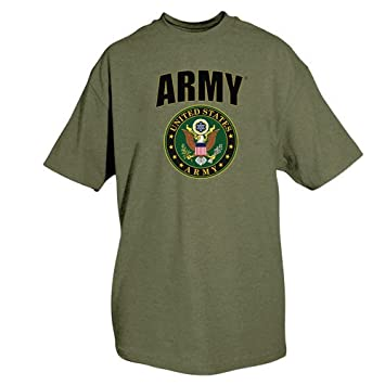 Fox Outdoor Products One-Sided Imprinted Army Crest T-Shirt Sports & Outdoors Fan Shop