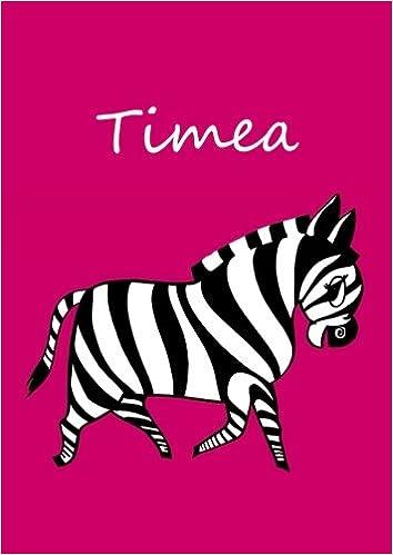 Malbuch / Notizbuch / Tagebuch - Timea: A4 - blanko - Zebra